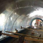 Aangepaste groot akwarium plastiek tonnel akriel projek