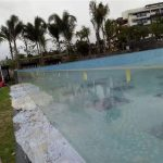 custom cut buite akriel swembad panele