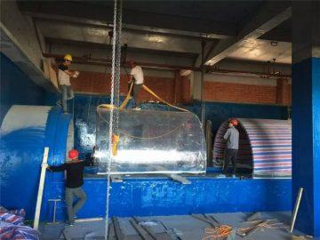 plastiek akwarium akriel Aquarium projek tonnel